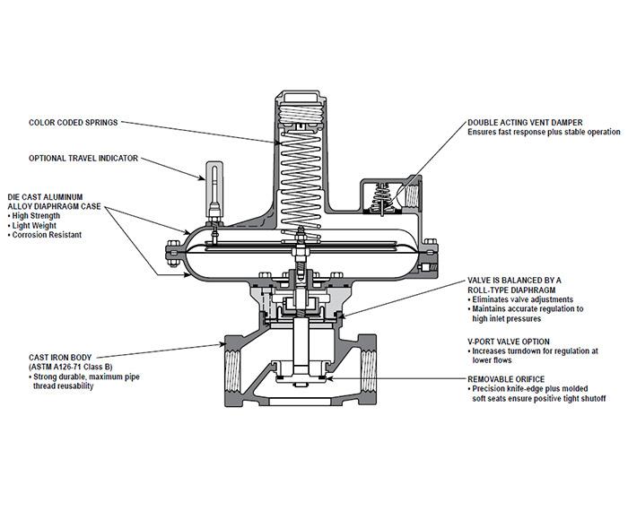"""Sensus 121-12-BP-2 2"""" Back Press Regulator"""