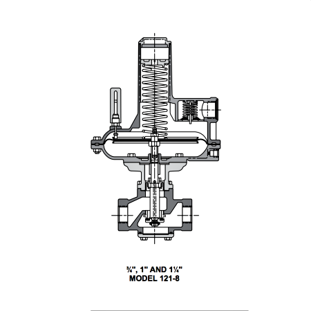 Sensus Model 121-16 Regulator Illustration