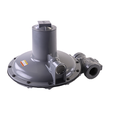 "Actaris B34R-1-1/2 Gas Regulator 1.5"" with Internal Relief Valve 7/8"" x 1"" Orifice 6-9"" Black Spring"